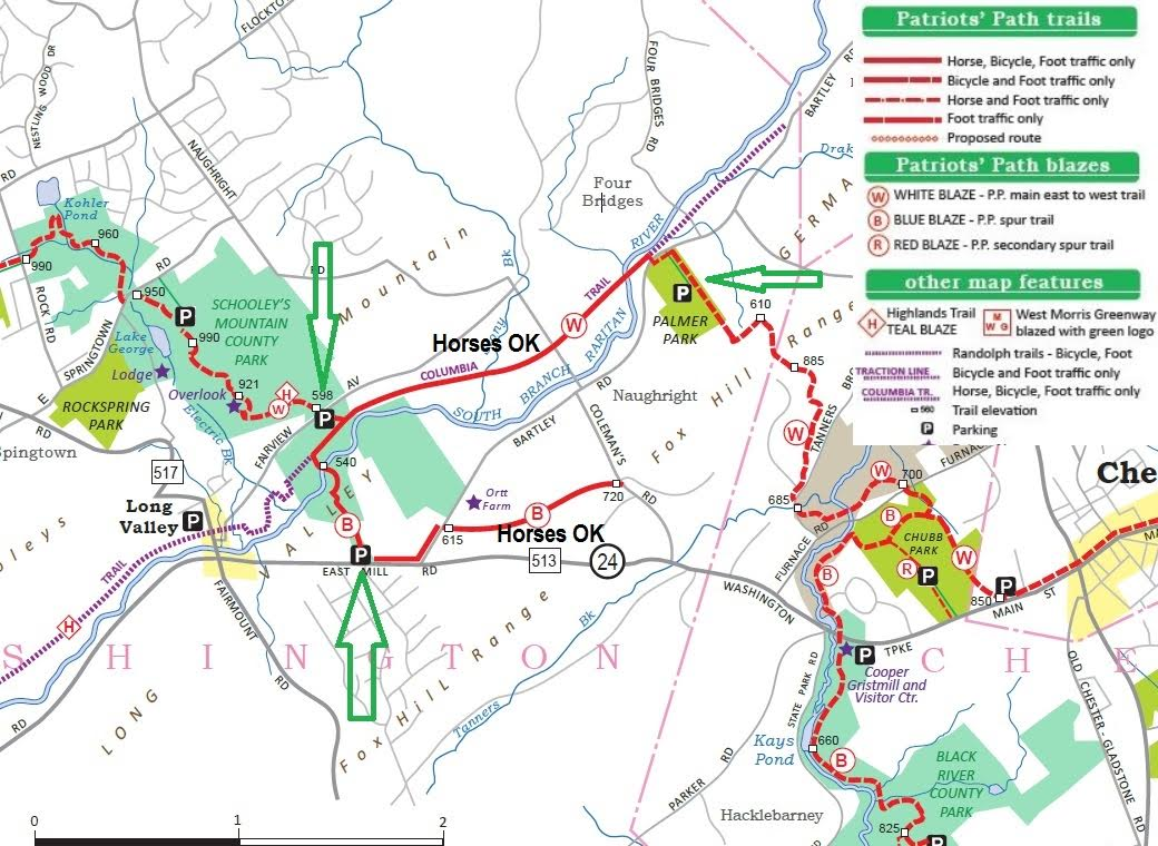 Suggested Equestrian Trails in Chester Chester Trails